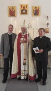 Canon Kevin Donlon, Bishop Roald Nikolai and Canon Geoffrey Neal